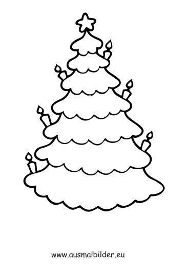 ausmalbild weihnachtsbaum  ausmalbilder weihnachten