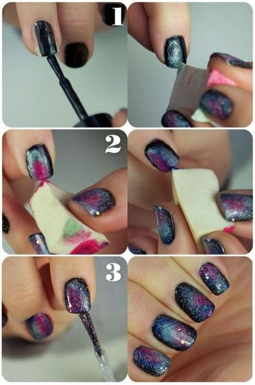 Want to do galaxy nails SOO badly now I know how
