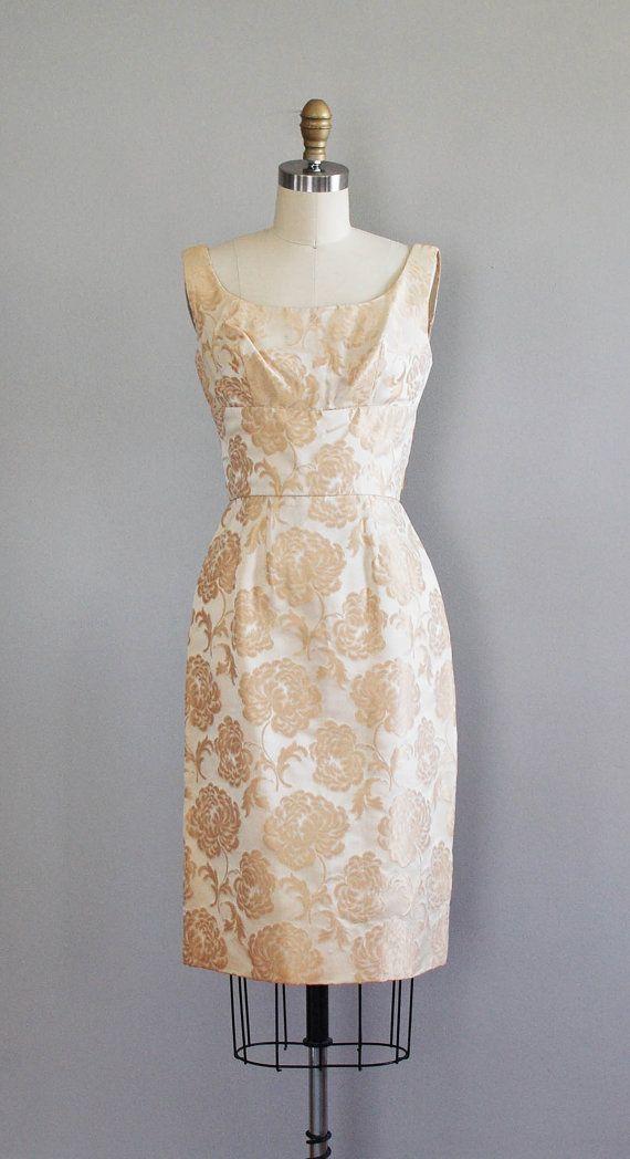 1960s dress / 60s cocktail dress / Light the Way by DearGolden, $148.00