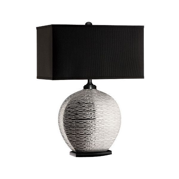 pari sliver ceramic table lamp 122 liked on polyvore featuring home lighting - Rectangular Lamp Shades