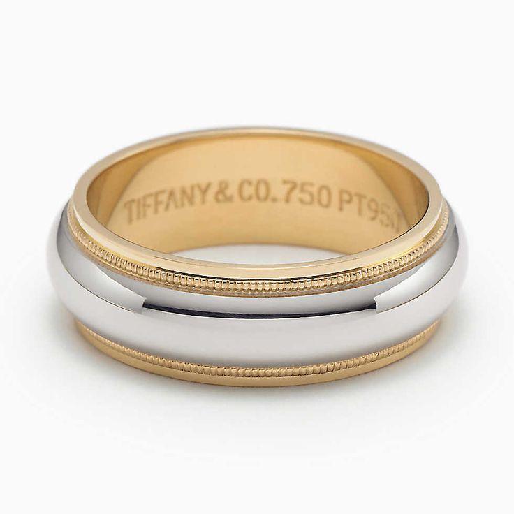 Tiffany Co Platinum 18k Gold 3mm Milgrain Wedding Band: 40 Best Wedding Images On Pinterest