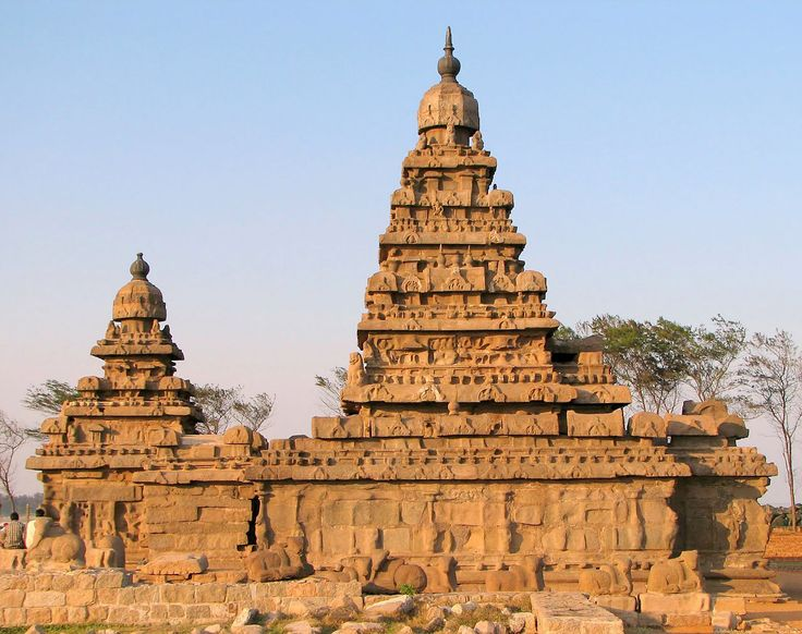 The Shore Temple is located near Chennai, India along the Coromandel coast, and is part of a group of monuments in Mahabalipuram, which was declared a World Heritage Site in 1984. The monuments in Mahabalipuram were founded by the Pallava kings, were constructed in the 7th and 8th centuries and particularly known for rock-cut architecture. The Shore Temple is distinctive in that it is one of the first structural (not rock-cut) stone temples of its time. The temple is dedicated to Shiva, the…