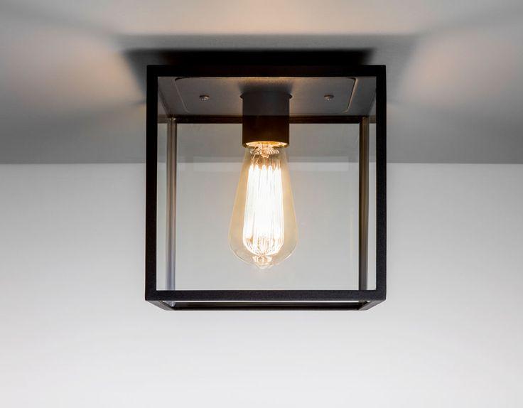 Astro Lighting 7389 - Box Outdoor Black Ceiling Light