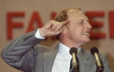 Neil Kinnock, British Labour Party leader and adorable egghead