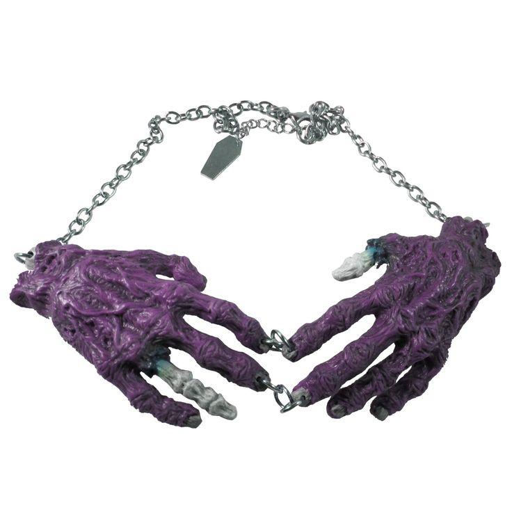 Zombie Hands Necklace (Purple) Kreepsville 666