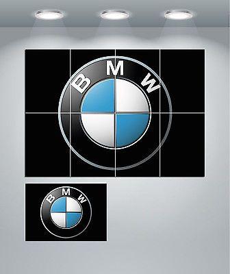 BMW Motors Car Logo Giant Wall Art poster Print