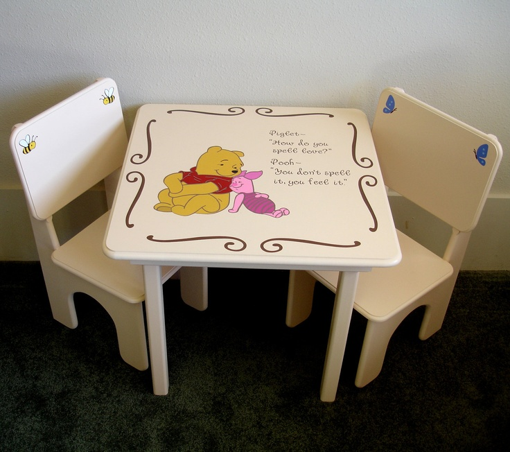 I want to paint pooh and piglet on our little wood table with the quote & 142 best Decor: Winnie the Pooh images on Pinterest | Pooh bear ... islam-shia.org