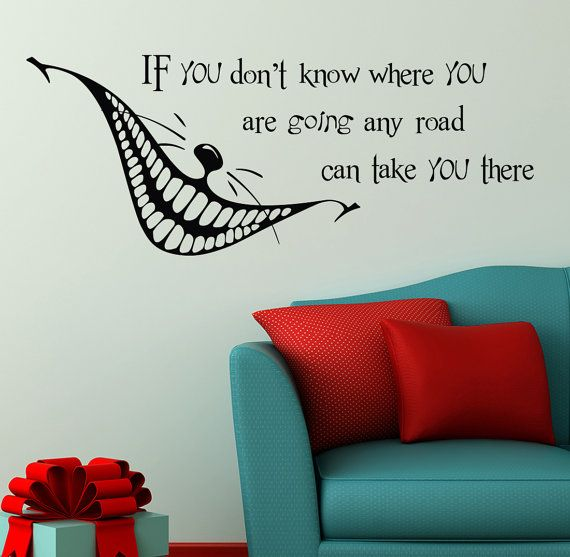 Alice in wonderland wall decals cheshire cat by lollipopdecals