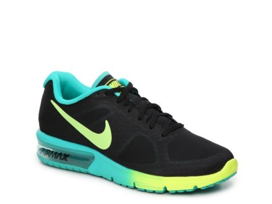 super popular aec6d 8dd96 ... sweden womens nike air max sequent performance running shoe black  yellow turquoise ac2f8 66d08