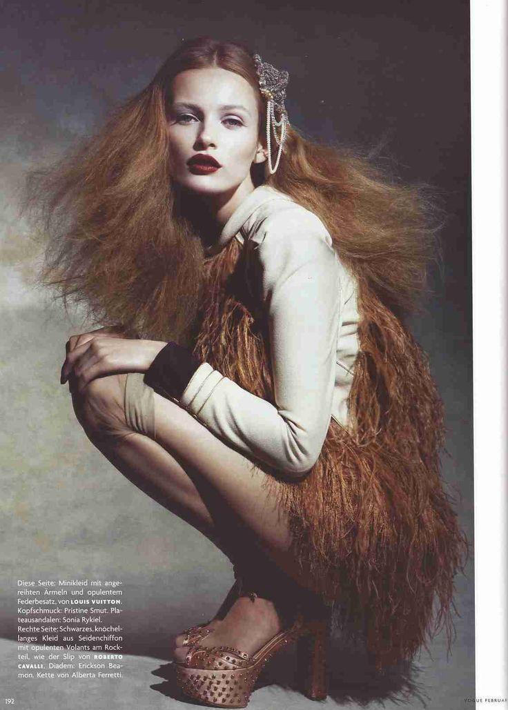Vogue Allemagne Février 2009 Patrick Demarchelier - Edita Vilkeviciute