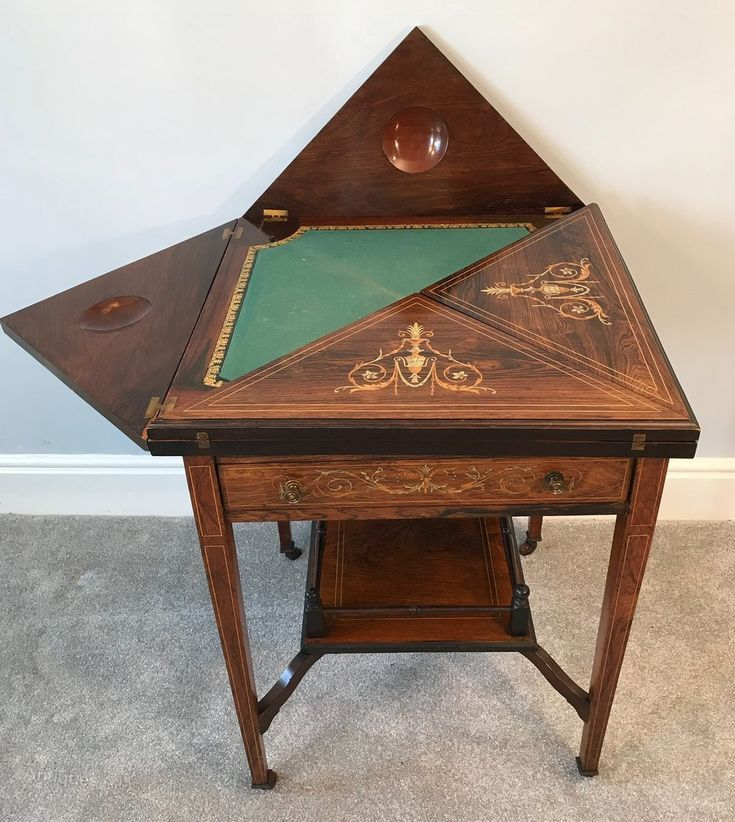 Marquetry Inlaid Envelope Card Table Antiques Atlas Marquetry Intarsia Wood Patterns Intarsia Intarsia Wood Intarsia Wood Patterns Antique Game Table