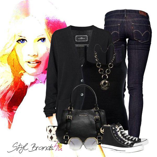 Čiernou sa nikdy nič nepokazí ... :) Čo vy na to ... Páči ... :) #fashion #outfit #brands4u