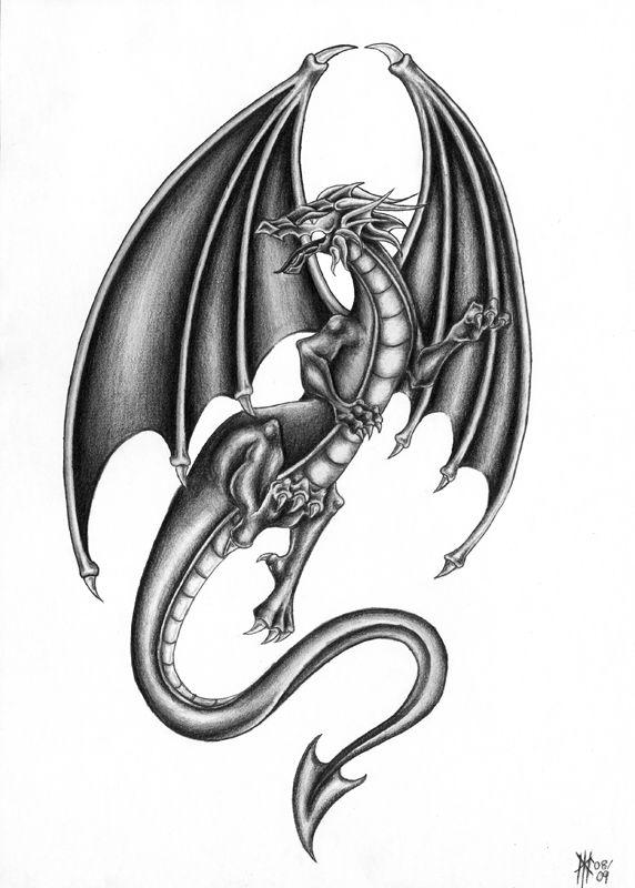 dragon tattoo designs | Dragon Tattoo Design by Milui