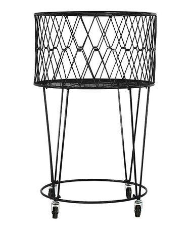 rolling laundry basket with handle hamper lid baskets cart