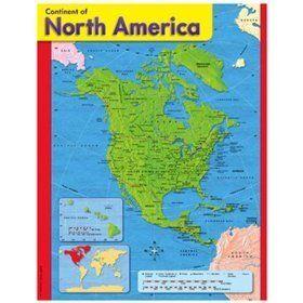 Trend Enterprises T 38143 Chart Continent Of North America By Trend Enterprises Inc