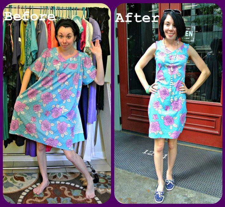 Ugly muumuu to adorable floral sheath dress