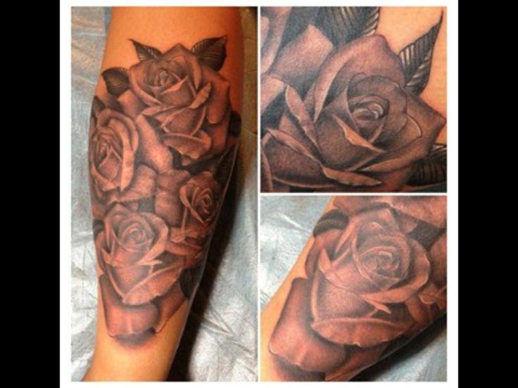 Forearm sleeve rose tattoo | Tattoos | Pinterest | Sleeve ...