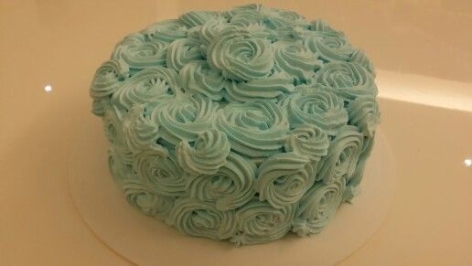 Chocolate cake with Blue Rossette Frosting