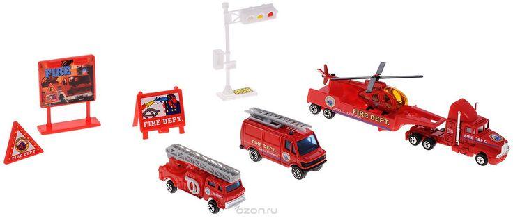 Welly Игровой набор Служба спасения Пожарная команда 9 предметов