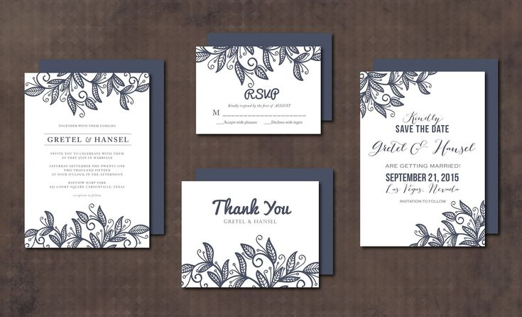 Wedding Invitation Suite leaves by aticnomar on @creativemarket