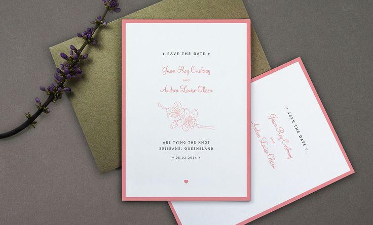 Wedding Invitation - Save the Date - Here Lives Amanda - Amanda Cole - Melbourne-based Freelance Graphic Designer and Illustrator