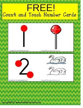 FREE Touch and Count Math Flash Cards {Special Education, Pre-K, Autism} - Autism Educators - TeachersPayTeachers.com