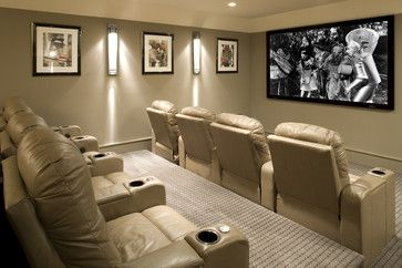 Small Media Room Ideas Design Ideas, Pictures, Remodel, and Decor - page 5