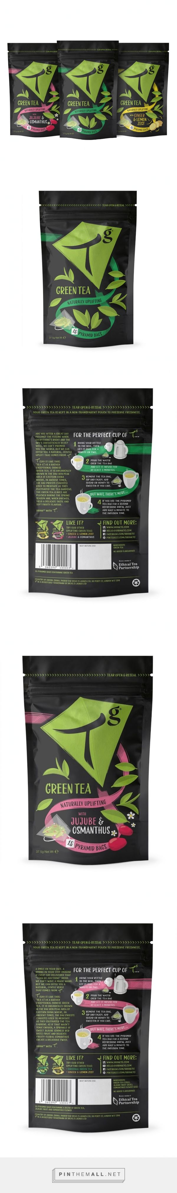 Tg Green Tea Pouches - Packaging of the World - Creative Package Design Gallery - http://www.packagingoftheworld.com/2015/05/tg-green-tea-pouches.html