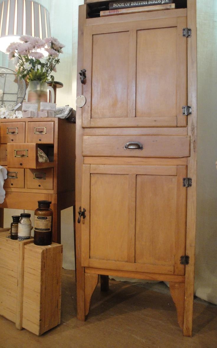 Antique Australian Colonial Era Baltic Pine Larder $729
