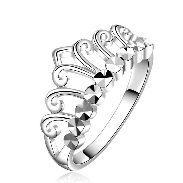 NIEUWE Arrivel 2016 VS EURO Stijl Mode verzilverd crown kings w Ring Groothandel Sieraden SMTR586