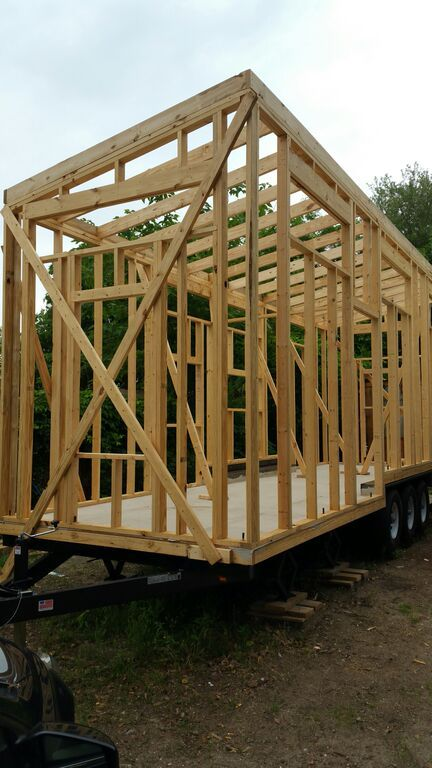 tiny house framing complete tinyhouse microhouse charleston smallisbeautiful redefinetheamericandream - Tiny House Framing