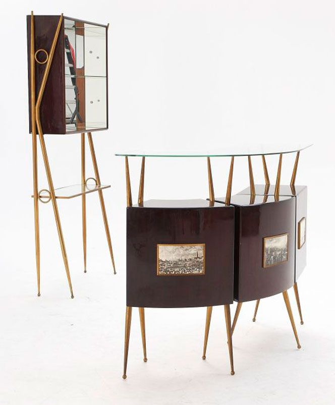 Lovely Gio Ponti; Bar Suite, 1950s.