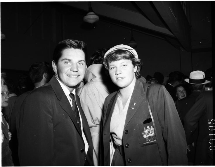 John and Ilsa Konrads at Mascot on the return of the Australian Olympic Team, 1960. Photo by Jack Mulligan, 22 September 1960. Australian Photographic Agency Collection, State Library of New South Wales: http://www.acmssearch.sl.nsw.gov.au/search/itemDetailPaged.cgi?itemID=81091