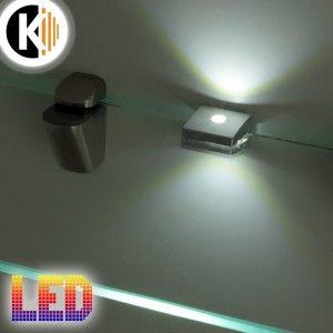 Klips LED ZETA S 3S do półki szklanej, 12V