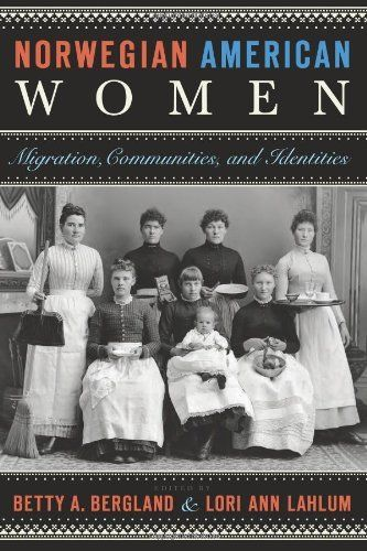 Norwegian American Women: Migration, Communities, and Identities by Betty A. Bergland,   The history of Norwegian settlement in the United States has often been told through the eyes of prominent men, while the women are imagined in the form of O. E. Rølvaag's fictionalized heroine Beret Holm, who made the best of life on the frontier but whose gaze seemed ever fixed on her long-lost home. The true picture is more complex.