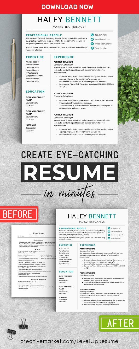 Microsoft Office Resume Templates 2014 Editable Resume Template  Ms Word  Pinterest  Template And Haley .