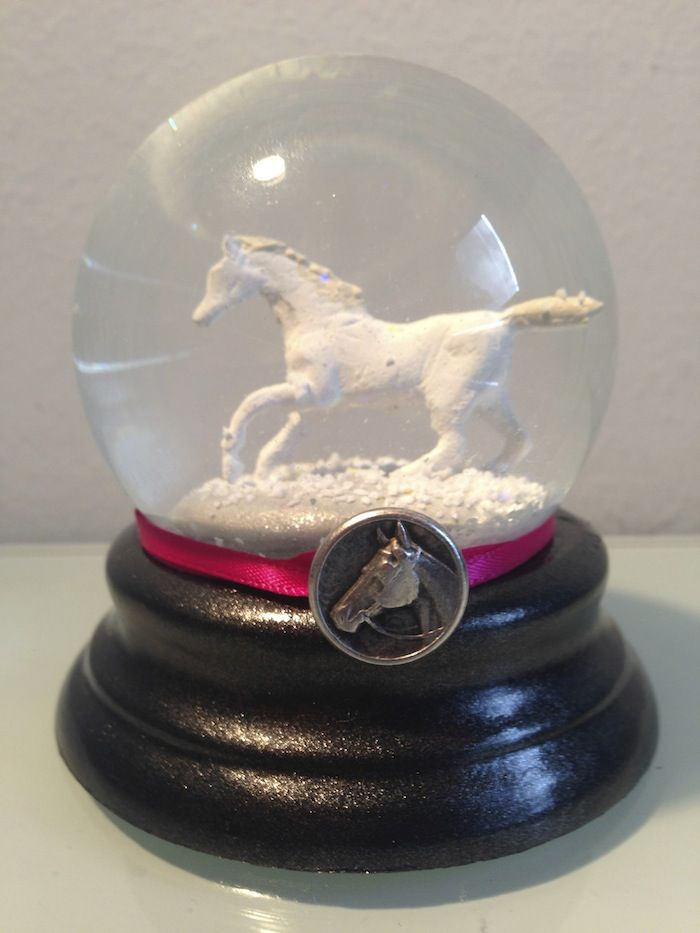 "Snow Globe - ""Galloping Foxley"" snow globe from QueenOfSnowGlobes.com"