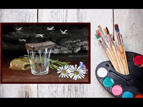Видео урок Рисуем Гуашью Картину В память павшим! #Dari_Art #9мая - YouTube