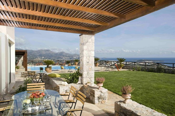 Courtyard, Villa Lia, Agios Nikolaos, Lasithi, Crete