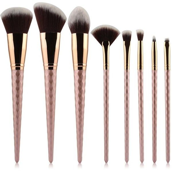 8 Pcs Makeup Brushes Set ($13) ❤ liked on Polyvore featuring beauty products, makeup, makeup tools and makeup brushes