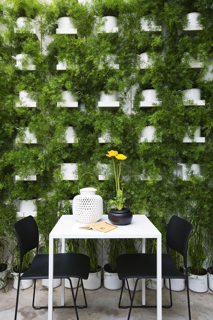 Green wall: Projects, Living Wall, Green Walls, Gardens Design Ideas, Restaurant Interiors Design, Vertical Gardens, Outdoor Gardens, Homes, Delicate Restaurant