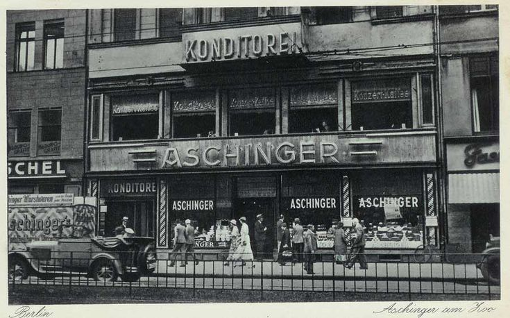 1936 Aschinger am Zoo-Konzert Kaffee & Konditorei,Berlin