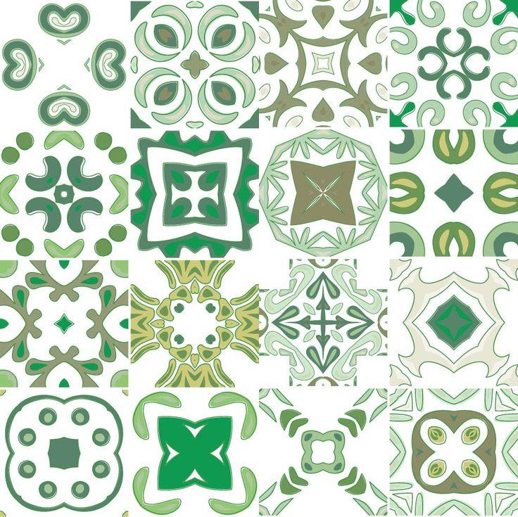 Adesivo de azulejo hidráulico 6010 décoration de la cuisineréfrigérateurs autocollantspapiers
