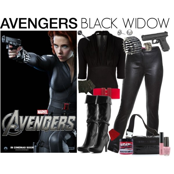 [Outfits inspired by The Avengers] AVENGERS Ensemble | Black Widow, created by leighanned on Polyvore