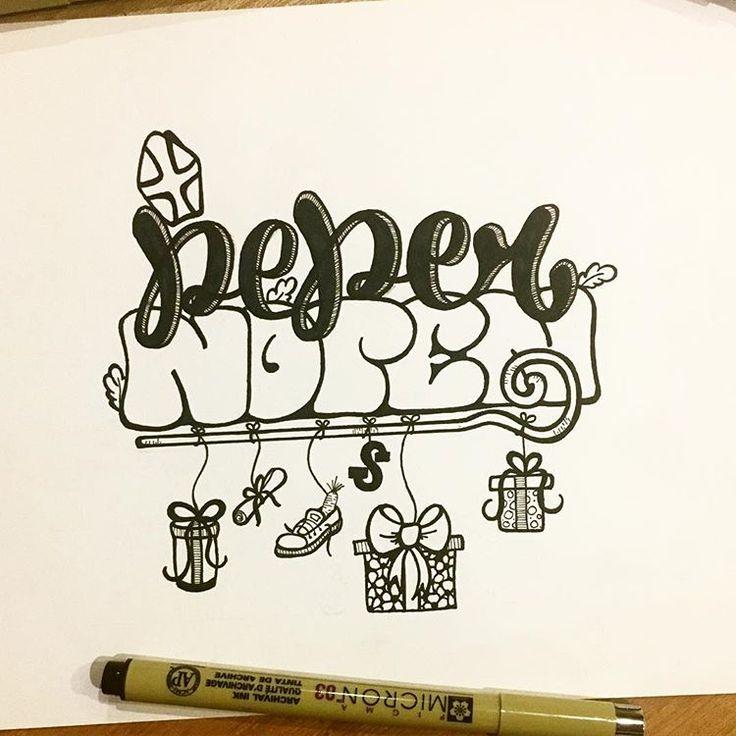 Pepernoten Sint en Piet doodle! - - - - #pepernoot #sinterklaas #sint #sintenpiet #doodle #worddoodle #letterdoodle #handletter #handlettering #handlettered #cadeau #schoenzetten #typedoodle #typedesign #doodle #drawing