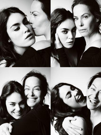 Amanda Harlech and daughter Tallulah