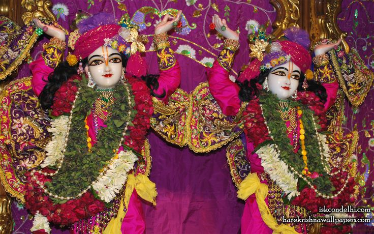 To view Gaura Nitai Close Up Wallpaper of ISKCON Dellhi in difference sizes visit - http://harekrishnawallpapers.com/sri-sri-gaura-nitai-close-up-iskcon-delhi-wallpaper-003/