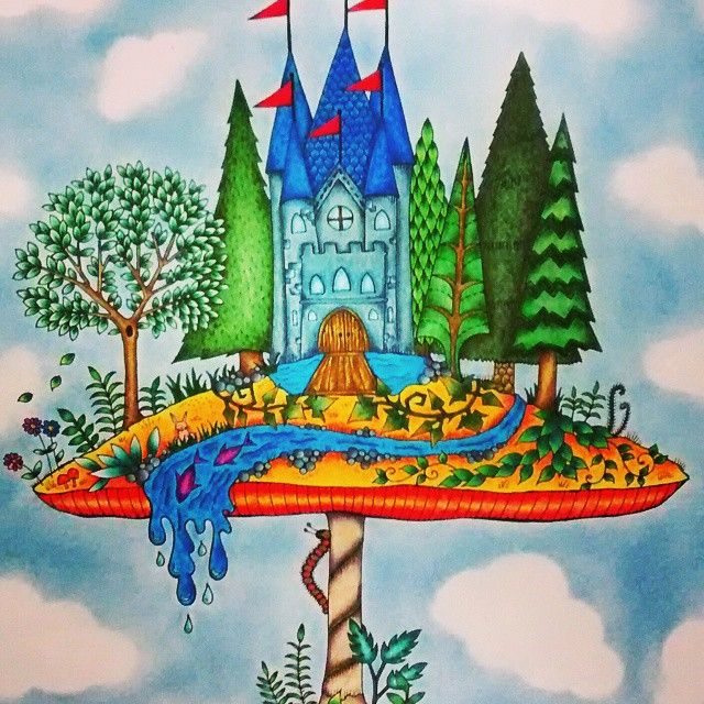 By Raquel Pedroso Coloring BooksColouringMushroomCastleJohanna BasfordWoodland ForestGardenColoring