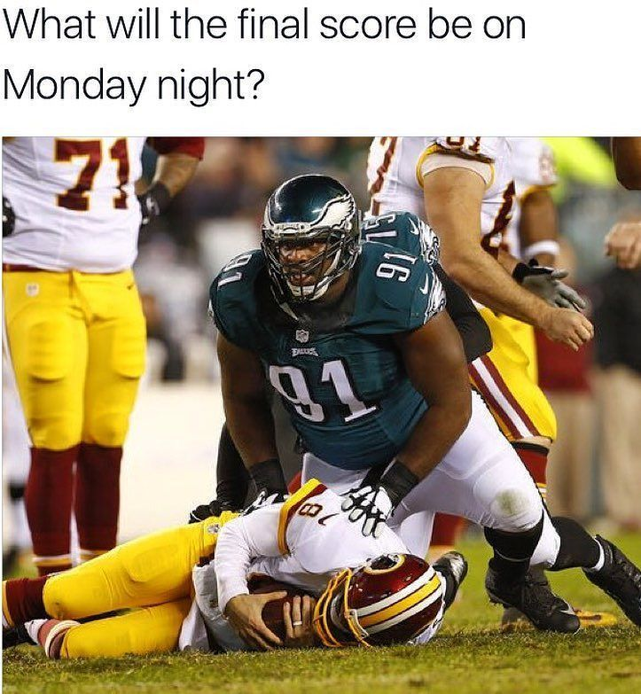 How many points do the Eagles score at home against an injured Redskins team?  Credit to:  @philadelphiapride  _________________________  _  Follow _  Check link in my BIO @eagles_fanloves _  Tag your friends  _________________________  #Eagles_fanloves #philadelphiaeagles #eagles #eaglesgirl #eaglesfan #eaglesnation #eaglesfamily #eaglesforlife #eagleswin #eaglesallday #eaglesfootball #eagles4life #goeagles #eaglescheerleaders #eaglescheer #eaglesfans  #FlyEaglesFly