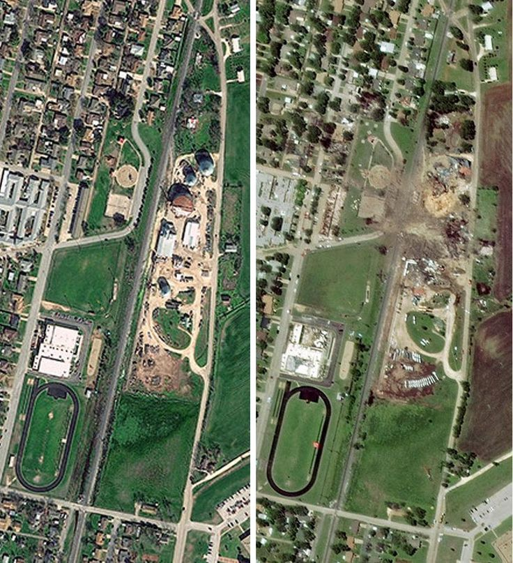 Satellite images show West Texas before and
